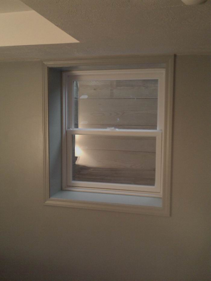 Egress Window on wall plumbing locations